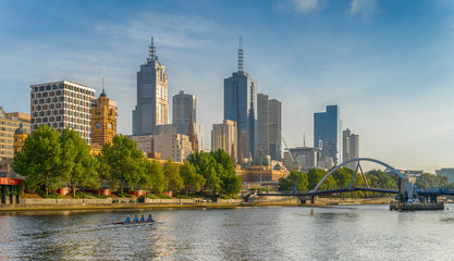 Melbourne central business district on the Northbank of the River Yarra