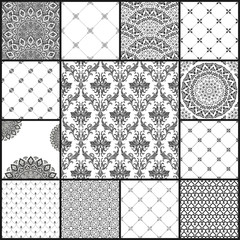 Eastern vector backgrounds seamless patterns