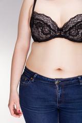 Obraz Body of a overweight woman - fototapety do salonu