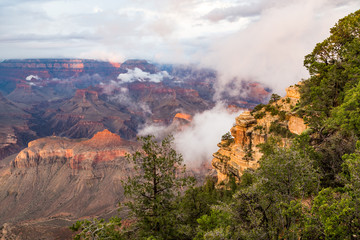 Grand Canyon National Park at dusk, Arizona, USA