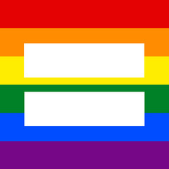 Horisontal Rainbow flag with equality sign