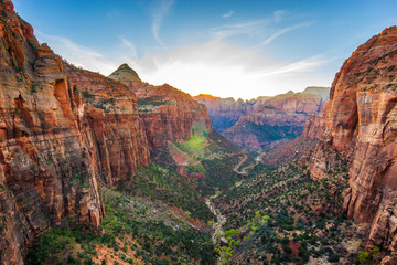 Fototapeten Schlucht Amazing view of Zion national park, Utah