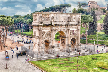 Fotomurales - Arch of Constantine at the Roman Forum in Rome, Italy