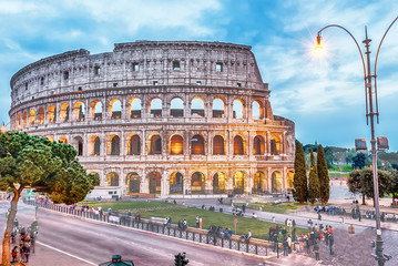 Wall Mural - The Flavian Amphitheatre, aka Colosseum in Rome, Italy
