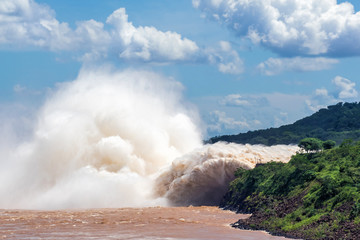 Itaipu Dam, on the border of Brazil and Paraguay.