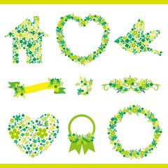 set of green decoration