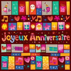 Joyeux Anniversaire Happy Birthday in French
