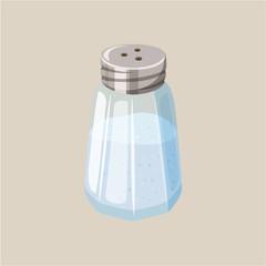 Glass salt shaker