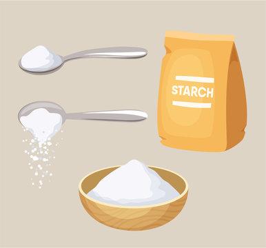 Set of starch
