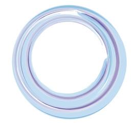 ein runder Rahmen blau weich pastell