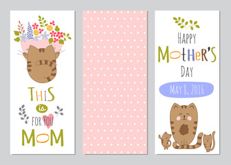 Mothers Day set of banners