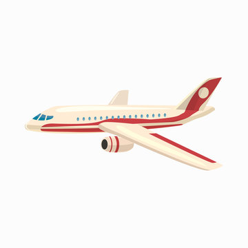 Airplane icon, cartoon style