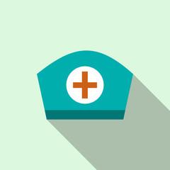 Nurse cap icon, flat style
