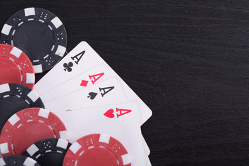 Poker chips for casino game