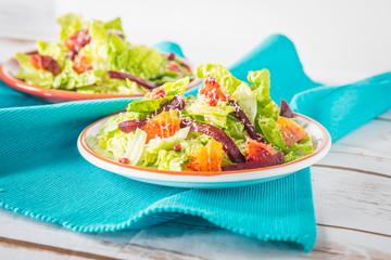 Beetroot and blood oranges salad