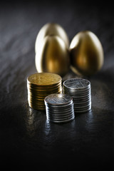 Savings and Pension Concept
