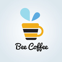Bee Coffee Logo template