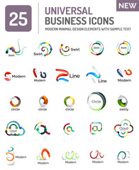 Collection of abstract company logo design concepts