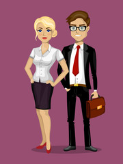 man and woman in business style