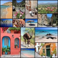 Crete, Greece - travel collage