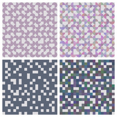 set of abstract patterns - squares and circles.