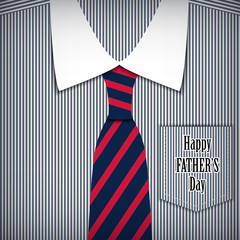 fathers day greeting card with shirt.