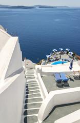 Santorini steps sun trap