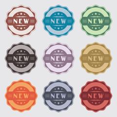 Badges vintage et rétro pour nouveauté