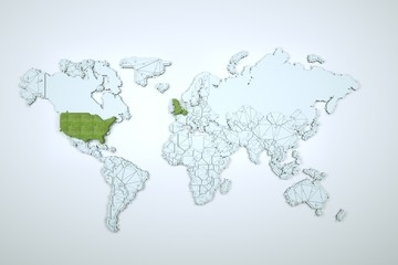 3D Earth in Motion. Nice 3D Render