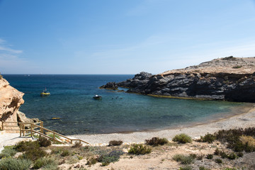 Coast on Cabo de Palos, Spain.