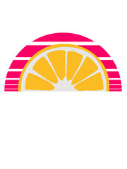 orange lemon half cut eating sour sweet tasty pattern design cool sun