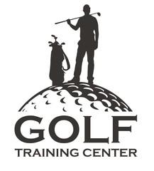 Golf vector labels, logos, golf club, training center.