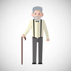 Vector illustration of Grandparents, graphic design
