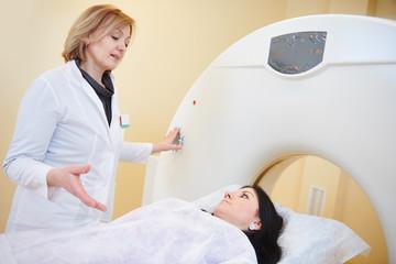 computed tomography or MRI scanner test analysis