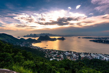 View of Guanabara Bay and Rio de Janeiro from the City Park in Niteroi