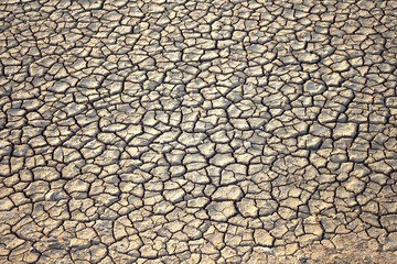 Dried cracked earth soil ground background