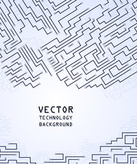 Circuit board abstract background. Technology, computer. Vector illustration.