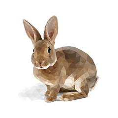 Кролик низко полигональный. Вектор.