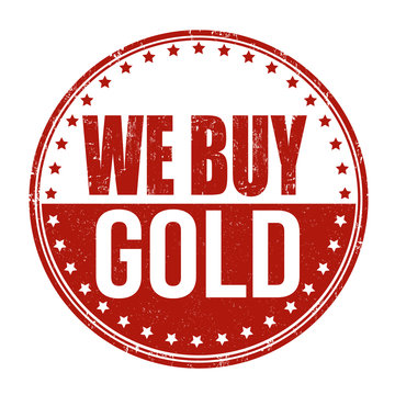 We buy gold stamp
