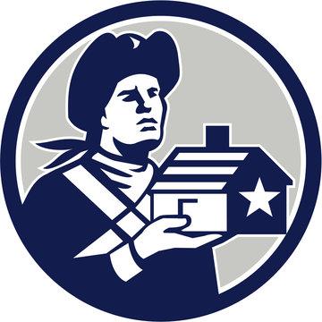American Patriot Holding House Circle Retro