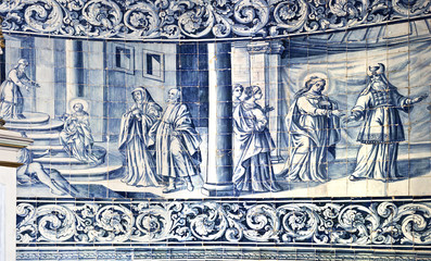 Tiles Panel on the wall of the Chapel of Good Help