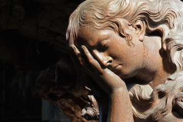 MEchelen - Carved relief of cried angel