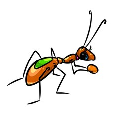 Ant insect cartoon illustration  image character  animal