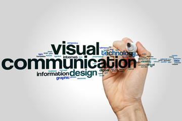 Visual communication word cloud Wall mural