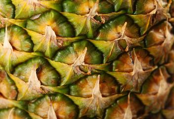 Pineapple background, closeup