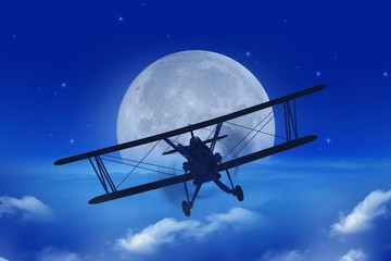 Full Moon Airplane Getaway