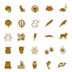 Animals Art icon set