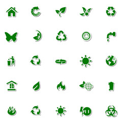Ecology and Nature icon set