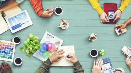 Multiethnic Designer Brainstorming Contemporary Concept