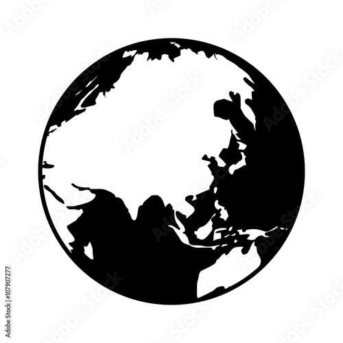 World map globe or planet earth showing asia flat icon for apps and world map globe or planet earth showing asia flat icon for apps and websites gumiabroncs Image collections